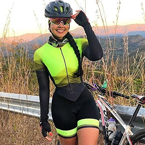 Femme de fer Trois pantalons serrés, chevauchant des vêtements à vélo de femmes à manches longues, des tapis, une robe, du fer, trois articles XJYWJ (Color : CJ459, Size : XXX-Large)
