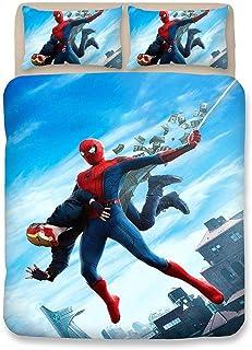 20def68b7a3c0 YYOUNG Ensemble de literie Dessin Animé 3D Spiderman 3 Pièces Ensemble De  Literie 100% Microfibre