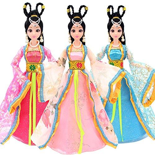 Absir Kleidung für Barbie-Puppe Traditionelles chinesisches klassisches Art-Kostüm für 30cm Barbie-Puppe