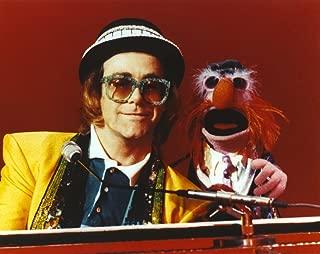 Elton John Playing Piano in Yellow Suit Photo Print (10 x 8)