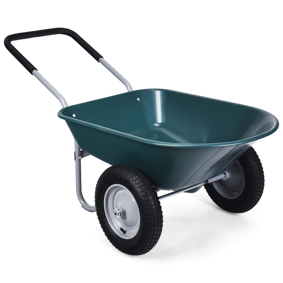 Goplus Wheelbarrow Capacity Utility Pneumatic