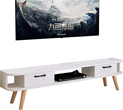 Floating TV Stand Wooden TV Stand Console,Set-top Box Storage Cabinet,Suitable for Office/Hotel/Family,Self-contained (Color : B)