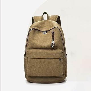 PANFU-AU Water Resistant Big Business Backpack Retro Simple Small Bag Retro Simple Small Backpack Bag Laptops Notebook Bag (Color : Beige)