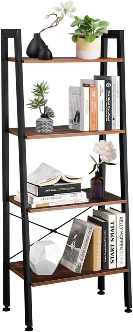 Cmbsya 4 Tiers Industrial Ladder Dealing full price reduction New sales Shelf Vintage Bookshelf Storage