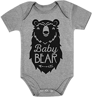 Tstars Baby Bear Cute Gift Little Girl Boy Sibling Family Baby Bodysuit