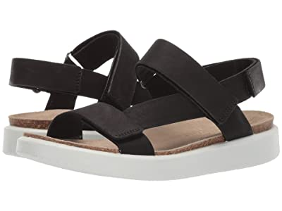 ECCO Corksphere Strap Sandal (Black Cow Leather) Women