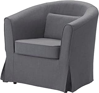 Easy Fit The Ektorp Tullsta Chair Cover Replacement is Custom Made for IKEA Tullsta Cover, A Armchair Sofa Slipcover Replacement (Dark Gray Cotton)