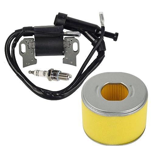 OuyFilters Paquete de filtro de aire con bobina de encendido Bujía de encendido para Honda GX240