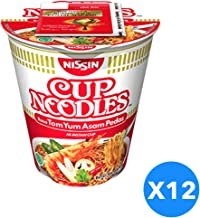 Nissin Cup Noodles Tom Yum 75 g, Pack of 12