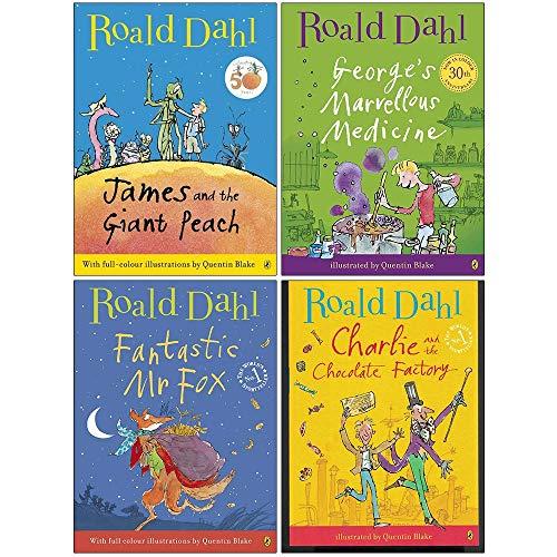 Price comparison product image Roald Dahl Collection 4 Books Set (James and the Giant Peach,  George's Marvellous Medicine,  Fantastic Mr Fox