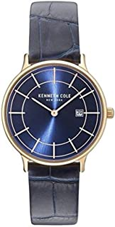 Kenneth Cole Womens Quartz Watch, Analog Display and Leather Strap KC15057002