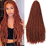 Passion twist hair 24 inch 7 packs Water Wave Crochet Braiding Synthetic Hair Extensions (24 inch 7 packs, 350 #)