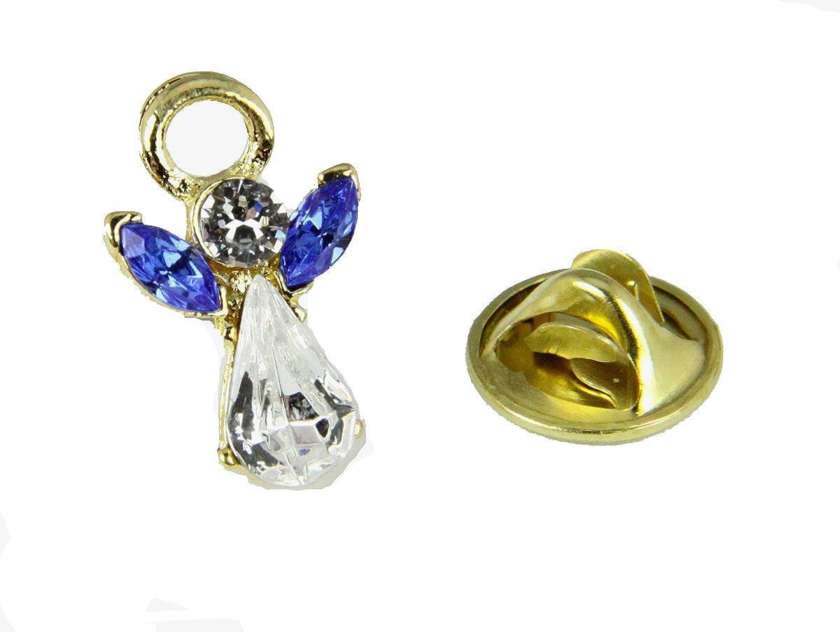 6030605 September Crystal Birth Month Angel Pin Guardian Lapel Brooch Tie Tack