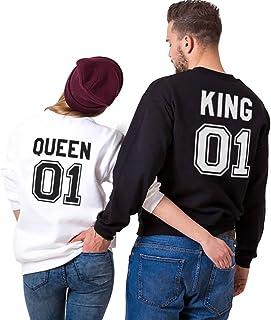 Sudadera Pareja Hoodie King Queen Cuello Redondohttps://amzn.to/2DTr8f5
