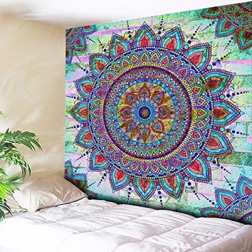 Tapices 3D Impresión Bohemia Floral Mandala tapiz alfombras de pared colgante de pared alfombras de arte azul sofá bohemio decoración del hogar manta de sofá Regalo de arte de decoración del hogar