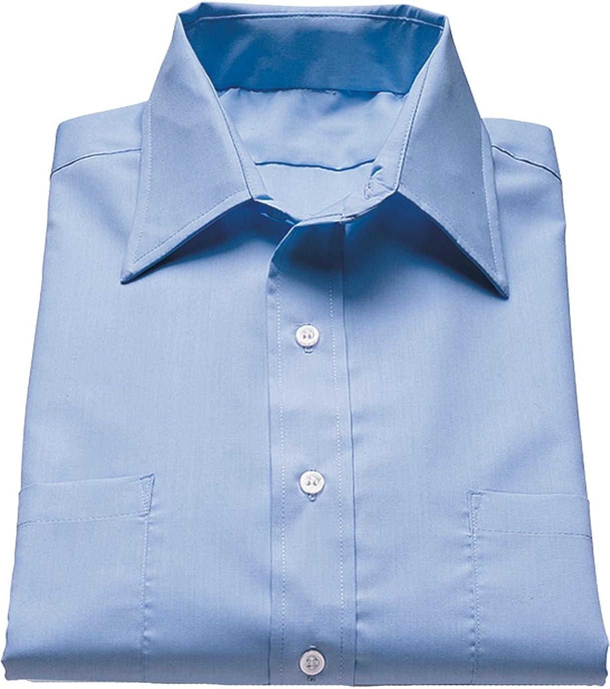 Ed Garments Men'S 1110 Point Collar Button Down Shirt (Blue 5X-L-T)