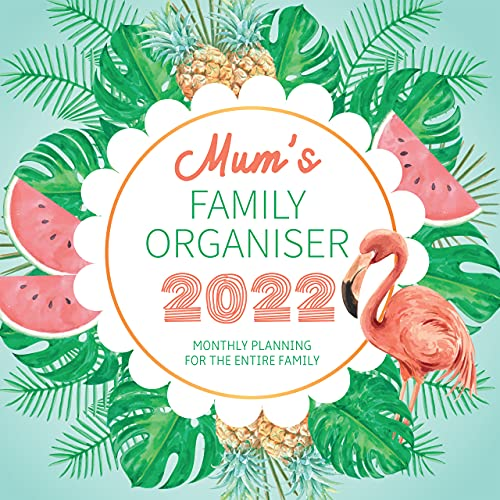 Mum's Family Organiser 2022 Large Wall Calendar, by Fresh Publishing , Size 12in x 24in (Open), Thick & Sturdy Eco Friendly (FSC) Paper.