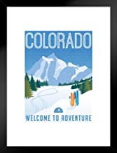 Poster Foundry Colorado Welcome to Adventure Retro Travel Art Matted Framed Art Print Wall Decor 20x26 inch