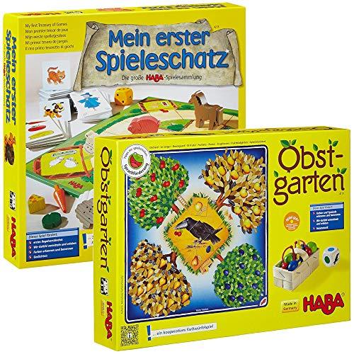 HABA 4278 - Mein erster Spieleschatz Die große Spielesammlung (Mein erster Spieleschatz + Obstgarten)