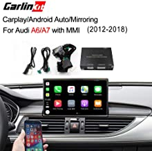 Carlinkit Car Airplay Android Auto Carplay Box Interface for Audi A6/A7 (2016-2018) Factory Screen Upgrade with Android Auto iOS12 AirPlay Screen Mirroring(Support Goolge&Waze Map&Mirroring)