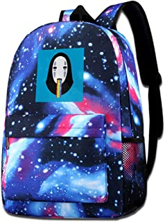 Galaxy Printed Shoulders Bag Spirited Away No Face Puking Rainbow Snapchat Filter Fashion Casual Star Sky Backpack For Boy...