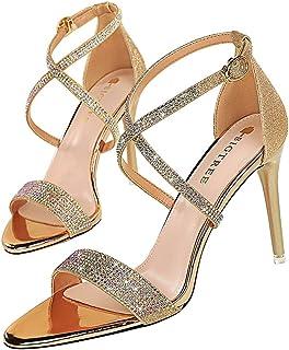 Moquite Scarpe da Donna - Sandali con Tacco Alto - 9.5CM Sandali- Sandali della Cintura della Caviglia
