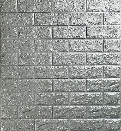 Papel de pared estilo ladrillos 3D, YTAT IED Pegatina de Pared DIY...