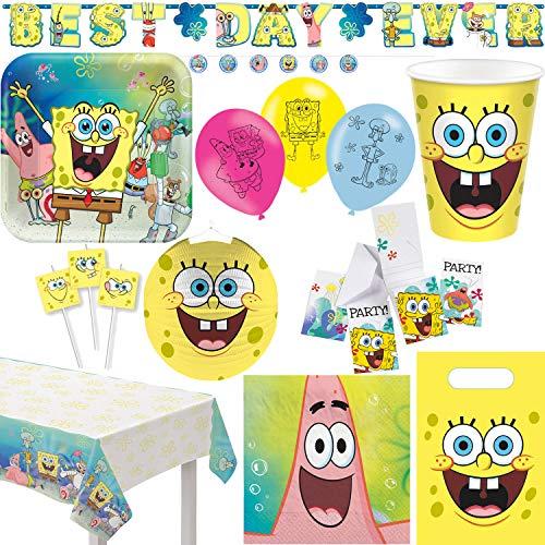 Playflip Spongebob Kindergeburtstag Party Set Dekoration Deko Geburtstag