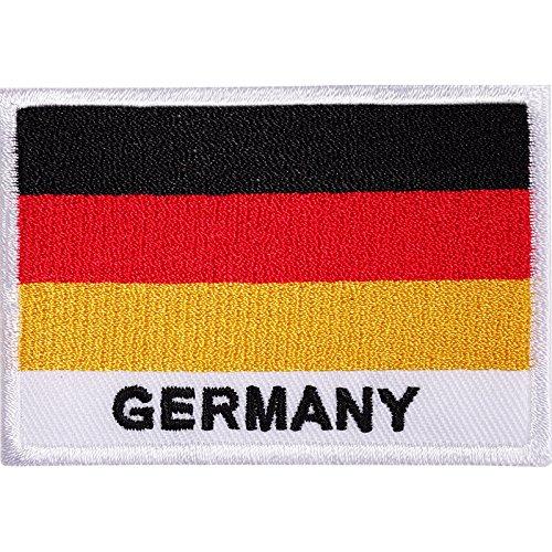 Aufnäher mit Deutschland-Flagge, bestickt, zum Aufnähen oder Aufbügeln, für Hemden, Taschen