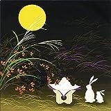 《ネコポス対応》(キステ)Kisste 彩時記 小風呂敷 5-4-00275 【No.5】お月見