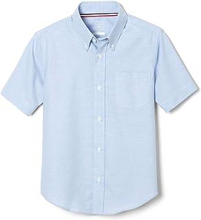 French Toast Boys' Short Sleeve Oxford Shirt (Standard & Husky)