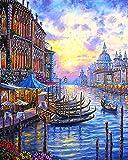 Madera Puzzle 1500 Piezas París Paisaje marino de Venecia al atardecer Diy Adultos Ocio Toys Decoracion