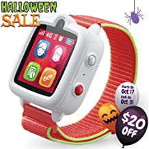 TickTalk 3 Unlocked 4G Universal Kids Smart Watch Phone with GPS Tracker, Combines Video, Voice and Wi-Fi Calling, Messaging, Camera, IP67 Waterproof&SOS (Red Pocket SIM on T-mobile's Network White)