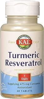 Kal Turmeric Resveratrol Tablets, 30 Count