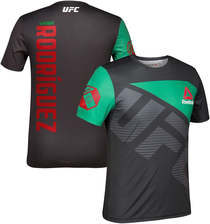 Adidas Jair Rodriguez UFC Reebok Schwarz Grün Offizielles Fight Kit Walkout Herren Trikot