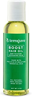 Hair Oil for Hair Growth by Terrajuve, Natural Treatment for Alopecia, Hair Thinning, and Hair Loss, Pure, All Organic, Safe and Effective, Made in USA