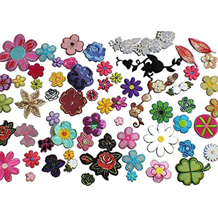 30pcs Flower Embroidery Patches Iron On Appliques(Random)