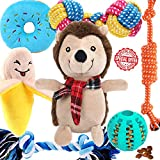 Aipper Puppy Toys for Small Dogs, 7 Pack Puppy Chew Toys, Cute Squeaky Toys, Dog IQ Treat Ball Toy, Plush Toys, Puppy Teething Toys, Dog Ropes Chew Toys for Small Puppies, Non-Toxic and Safe