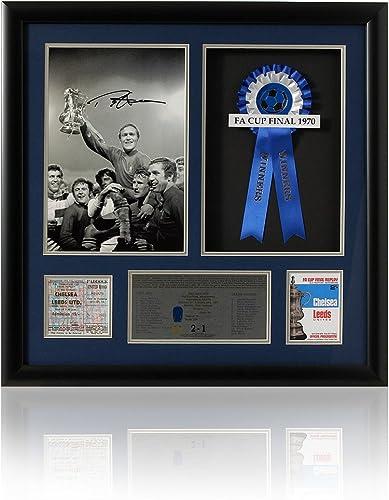 Grande main signé Ron Harris de Chelsea 1970–Finale de présentation (LOT617)