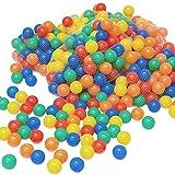 LittleTom 100 Bunte Bälle für Bällebad 6cm Babybälle Plastikbälle Baby Spielbälle