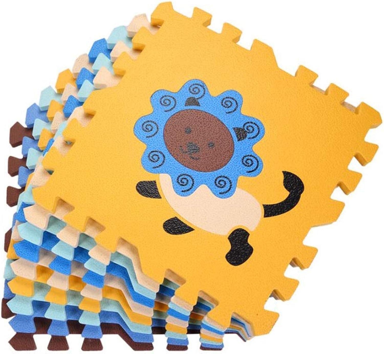 ZHWEI Crawling Mat Baby Crawling Mat Animal Puzzle Foam Splicing Mat Outdoor Portable Mat 9 Pieces