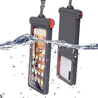 【最新版 Face ID認証対応】 防水ケース スマホ用 IPX8認定 完全保護 防水携帯ケース 完全防水 タッチ可 顔認証 気密性抜群 iPhone11/iPhoneXR/X/8/8plus/Android 6.5インチ以下全機種対応 水中 ...