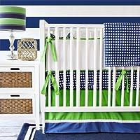 2-Piece Caden Lane Limited Edition Preppy Navy Boy Crib Set