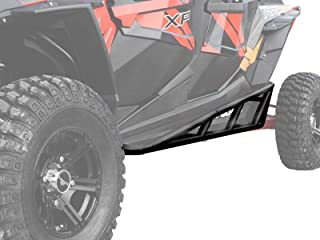 SuperATV Nerf Bars/Tree Kickers/Rock Sliders for Polaris RZR XP 4 Turbo (2016+) - Black - Compatible With Our Full Protection Kit!