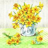 Ambiente Tovagliolo 33x33 Carta Decorato Narcissus