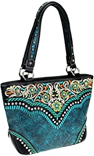 Montana West Womens Tote Purse Embroidered Collection Embossed Vintage Pattern MW726-8317
