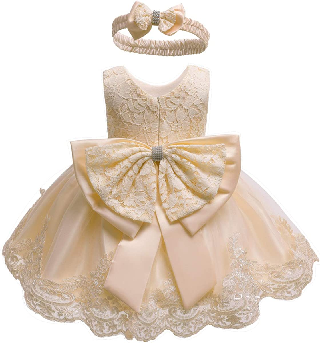 0-6T Baby Girls Big At the price of surprise Max 51% OFF Bowknot Dresses Lac Toddler Prom Formal Tutu