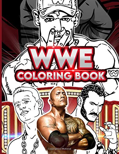Wwe Coloring Book: Exclusive Wwe Coloring Books For Adults, Boys, Girls. 8.5