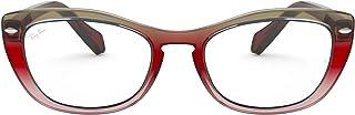 Ray-Ban Women's RX5366 Cat Eye Eyeglass Frames Non Polarized Prescription Eyewear, Trigradient Brown/Violet/Demo Lens, 54 mm