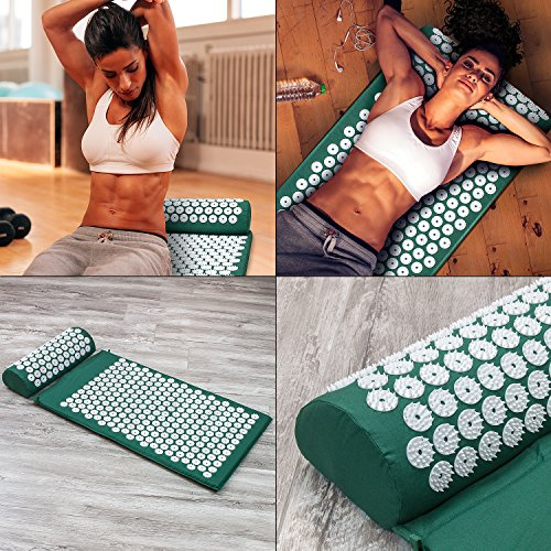 Sivan Back and Neck Pain Relief Acupressure Mat and Pillow